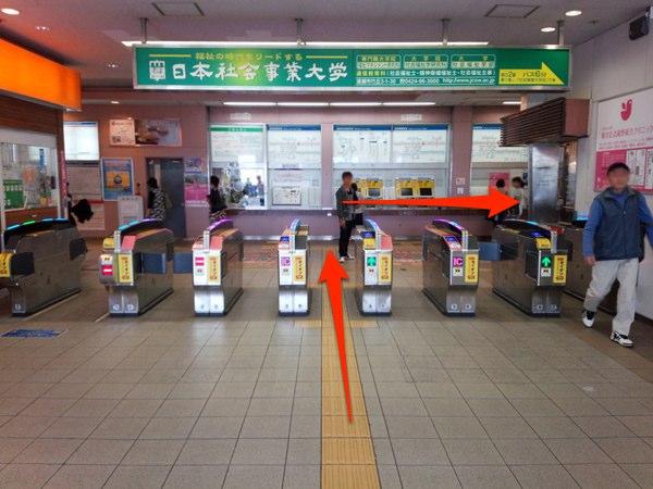 清瀬駅 改札
